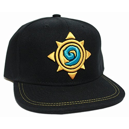 Hearthstone-Flat-Bascap-Rose-Logo-Schwarz-One-Size