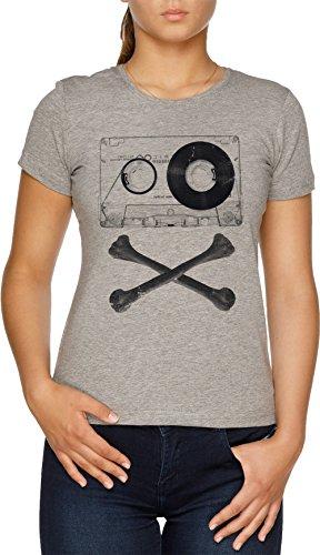 Vendax Pirata Música Camiseta Mujer Gris