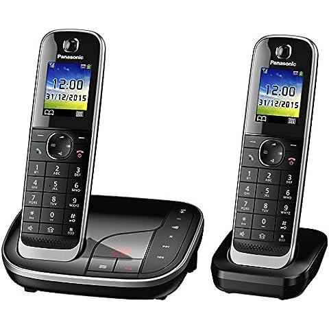 Panasonic KX-TGJ322 - Teléfono (DECT, Escritorio, Negro, LCD, AAA, Polifónico)