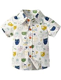 cf1d8bbd88 Makalon Sommer Kleinkind Jungen Mädchen T-Shirt Baby Unisex Karikatur Tops  Kinder Jungs Freizeit Cartoon