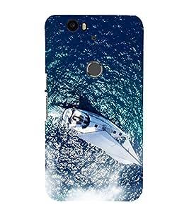 Boat in the Sea 3D Hard Polycarbonate Designer Back Case Cover for Huawei Nexus 6P :: Huawei Google Nexus 6P
