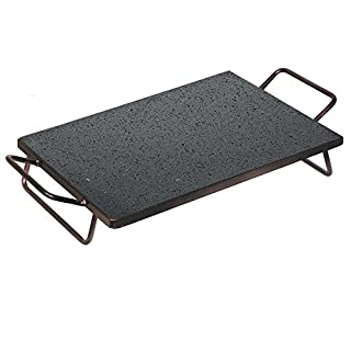Grill Plate Iron for Barbecue Fireplace BBQ 40x30cm Cooking Meat 525a