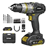 Best Cordless Drill Drivers - Cordless Drill Driver 18V, TOPVORK Par 55N.m Electric Review