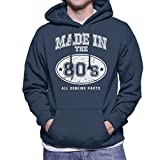 Coto7 Made in 80s All Genuine Parts Mens Hooded Sweatshirt