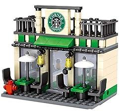 Modbrix City Bausteine Cafe Ladengeschäft, 190 teiliges Konstruktionsspielzeug