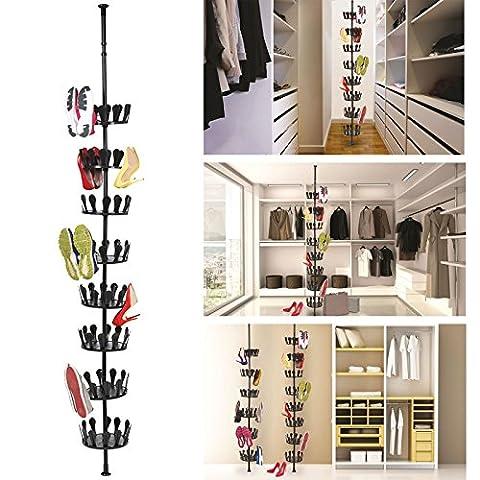 ProBache - Carrousel à chaussures télescopique rangement 48 paires