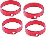 PEARL Antimückenarmband: Größenverstellbares Anti-Mücken-Armband in Rot, 4er-Set (Anti mückenband)