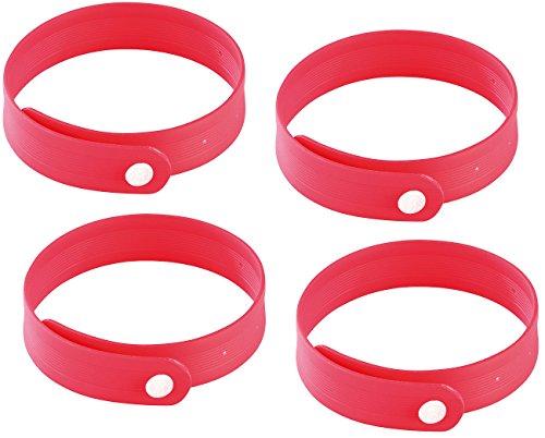 PEARL Mückenband: Größenverstellbares Anti-Mücken-Armband in Rot, 4er-Set (Anti Mückenband) - Zitrus-band