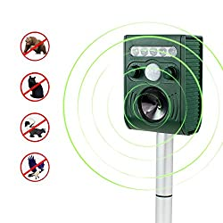 Ultrasonic Animal Repeller - Aspectek - Battery Operated Pest Repellent, Pest Deterrent - Protect your Yard from Dogs, Cats, Squirrels, Rodents, and more
