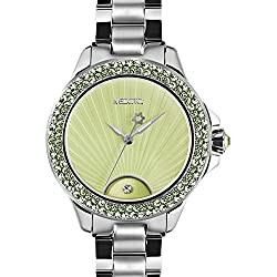 MEDOTA Gratia Women's Studded Automatic Water Resistant Analog Quartz Watch - Green