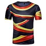YuanDian 2018 Fußball WM Herren Damen Fans T Shirts 3D Nationalflagge Druck Kurzarm Rundhalsausschnitt Deutschland Fussball Tee Shirt Deutschland 2# XL