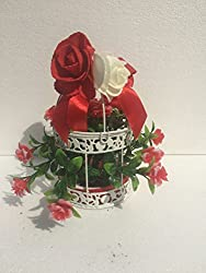 carmer very beautiful small bird cage with red rose