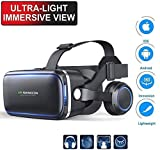 EDGEMETER VR SHINECON 6.0, 4th Generation 3D Virtual Reality Headset with Stereo Headphone