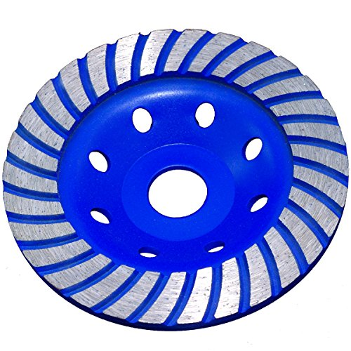 Diamond Cup Grinding Disc Diameter 125mm 22.2Turbo Concrete Edger Granite 00377 Test