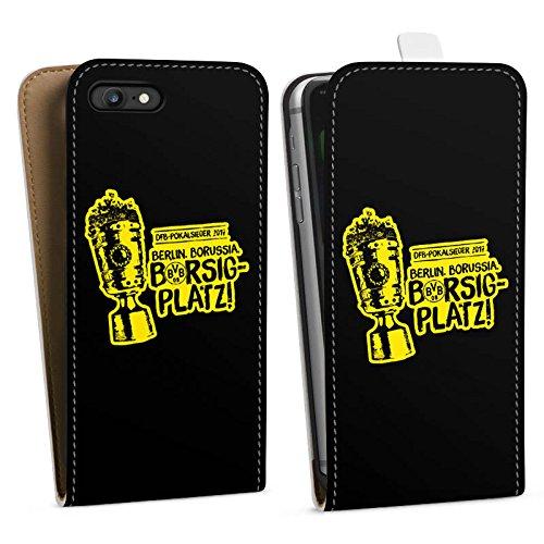 Apple iPhone 6s Silikon Hülle Case Schutzhülle Borussia Dortmund Pokalsieger BVB Downflip Tasche weiß