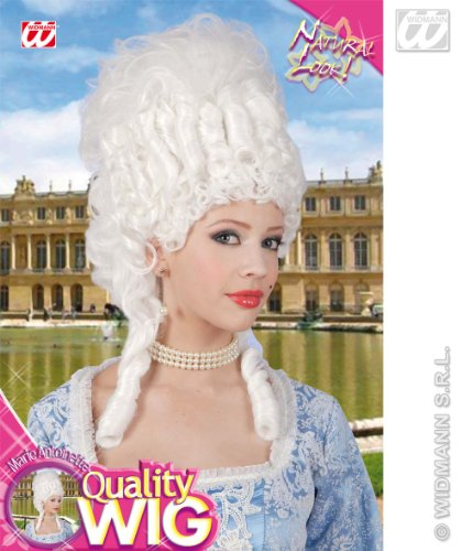 e PE498/weiß-Perücke Marie Antoinette weiß-Einheitsgröße ()