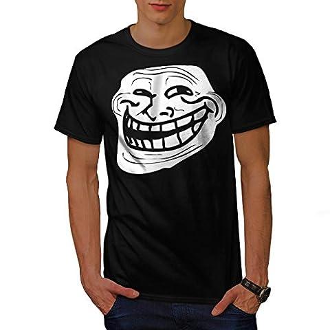 Visage de troll Troll mème Homme S T-shirt  