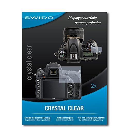 2 x SWIDO Pellicola Protettiva Nikon D750 Screen Protector Pellicola Protettiva Film 'CrystalClear' invisibile