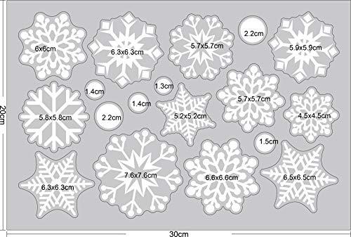 Yuson Girl 5 Feliz Snowman Copos de Nieve Pegatinas de Ventana Navidad Reutilizable Murales Decorativos Pared Invierno Decoracion Ventana Puerta Navidad Exterior Tienda Casa