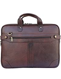 Leather Laptop Bags For Man And Woman 15.6 Inch,OfficePure Leather Laptop Messanger Bag By AIROCRATE - B0762QWDCR