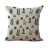 Tropischen Kaktus Baumwoll Leinen Dekokissen kissenbezug Kissenbezug Haus Auto Dekor - 06