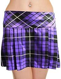 MyMixTrendz - boîte de 14 pouces jupe plissée tartan femmes
