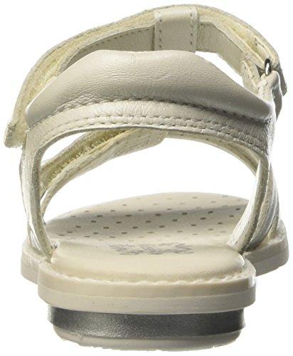 Geox Jr Sandal Giglio A, Sandales ouvertes fille Blanc - Blanc cassé (C1002)