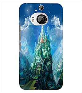 PrintDhaba Castle D-4423 Back Case Cover for HTC ONE M9 PLUS (Multi-Coloured)