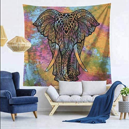 Kikan Indischen Mandala Multi Farbige Tapisserie Elefant Wandteppiche 100{878f724bbee1e37b4cd96216a3dd0af40d31c24f9e7db24ed535b7624f3d2835} Baumwolle Handgefertigt Rainbow TYE Dye Viel Glück Elefanten Wandbild Zum Aufhängen