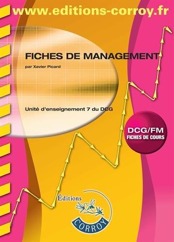 Management : Corrigé - Unité d'enseignement 7 du DCG, Cas pratiques
