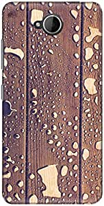 The Racoon Grip printed designer hard back mobile phone case cover for Microsoft Lumia 650. (water wood)
