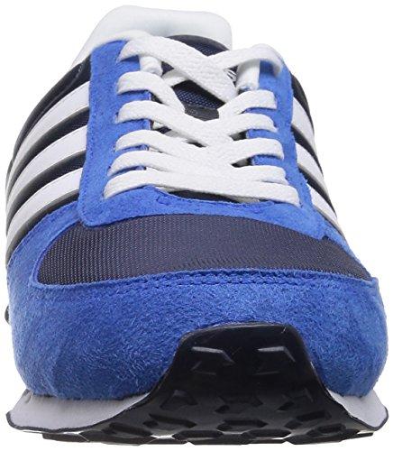 Adidas Neo City Racer Herren Sneaker F38451 Blau/Weiß (NNY/FTWWHT/BLUE)