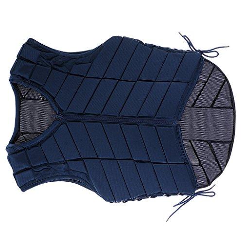 Veste Equitation Gilet de Sécurité Protection de Cavalier Adulte - Bleu Marine, M