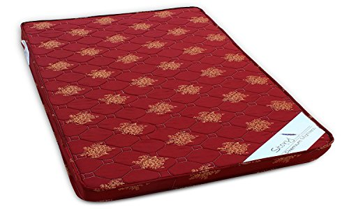 Story@Home Premium 4-inch Double Size Foam Mattress (Maroon, 72x60x4)