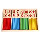 Jigang 1 Set Wooden Number Counting Sticks Baby Math Toy Math Tool Learning Toys - A Great Helper Early Education Puzzle Toys For Kids Learning Math