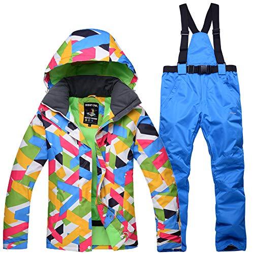RUIVEN Ski Jacken und Hosen Wasserdicht Winddicht Outdoor Mäntel Schnee Snowboard Jacken, Geeignet für Erwachsene Männer, Frauen,B,M