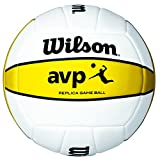 Best Beach Volleyballs - Wilson Volleyball, Outdoor, AVP Replica, White/Yellow, WTH46700X Review