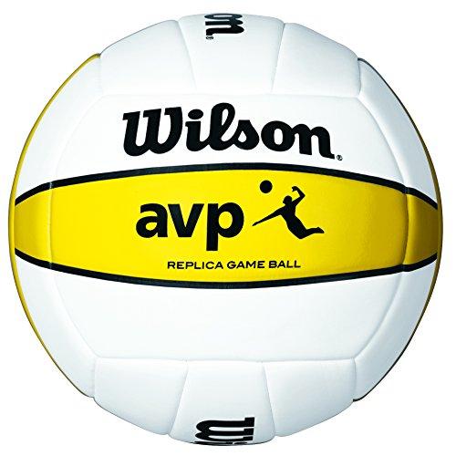 Wilson - Pallone da beachvolley AVP Replica, colore: Bianco/Giallo