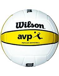 Wilson Volleyball, Outdoor, Wettbewerbsspieler, AVP Replica, Weiß/ Gelb