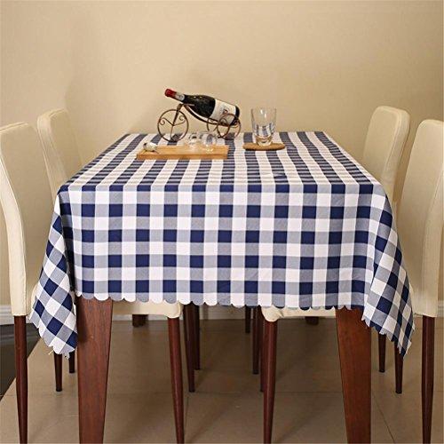 TABLE® Tischdecke Ländliches Restaurant Tischdecke Rechteck Wohnzimmer Couchtisch Mode Tisch Rock , treasure blue , party 120*160cm