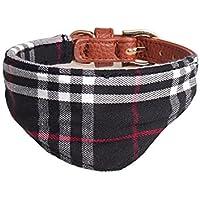 iBelly Hund Bandanas Hundehalsband mit Dreieckstuch Hunde Halstuch Halsbänder, Haustier Dreieck Schal, Britischer Stil mit Bow, Haustierhalstuch Verstellbar für Hunde und Katze