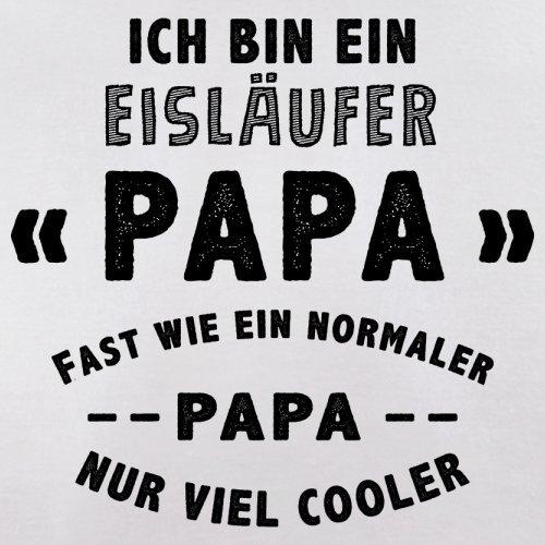 Ich bin ein Eisläufer Papa - Herren T-Shirt - 13 Farben Weiß