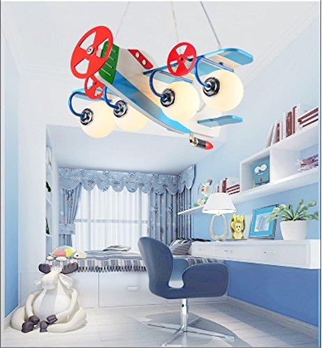Flugzeug Kronleuchter LED-Lampe kreative Kinderzimmer Jungen und Mädchen Schlafzimmer Raumlampe modernen minimalistischen Karikatur
