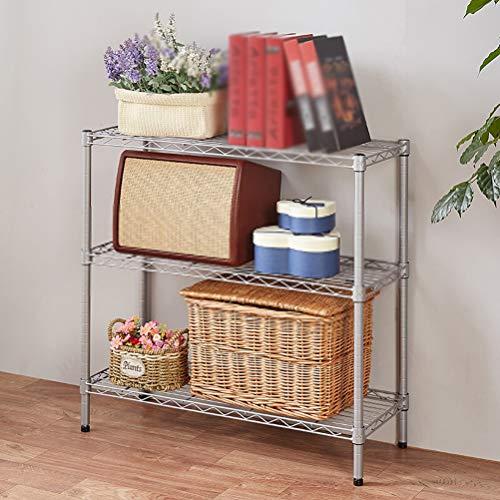 Kitchen furniture - Support de four à micro-ondes domestique à étagère métallique à trois couches noir et gris (taille: 80X30X75CM) WXP (Couleur : Gray)