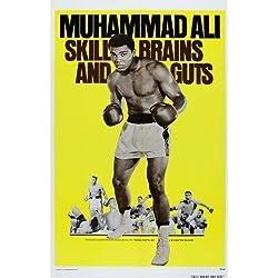 SKILL CEREBROS & GUTS .Muhammed Ali . Vintage Boxeo Cartel De Película A1 A2 A3 A4 Tallas - A4 Tamaño