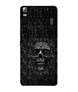 PrintVisa Pattern Scary Skull 3D Hard Polycarbonate Designer Back Case Cover for Lenovo K3 Note :: Lenovo A7000 Turbo