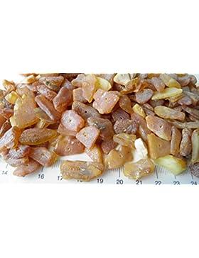 Bernstein Roh gebohrt 60g Raw Amber Natur Bernstein durchgebohrt 0,8-2,2cm groß ! Basteln bernsteinfee