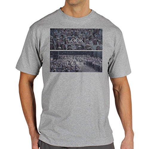 Look-How-We-Take-Background.jpg Herren T-Shirt Grau