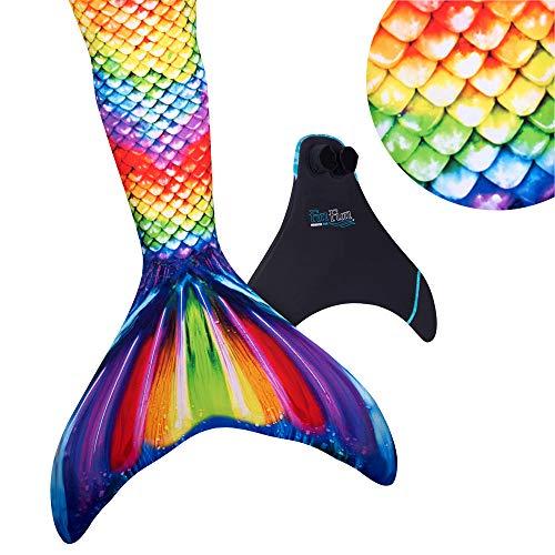 Fin Fun Mermaid Tail verstärkte Tipps, mit Monoflosse, -