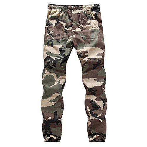 JYJM Mens Elastischer beiläufiger Jogger Camo Sportwear Baggy Harem Hosen Hosen Hosen Jogginghose Winter Hosen